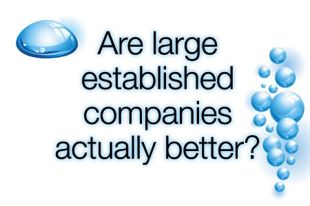 18 Are large established companies actually better?